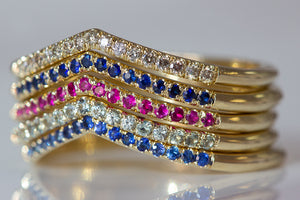 Dainty Pavé Stack Rings