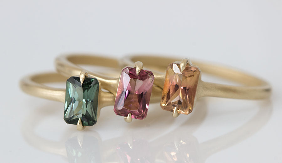 Eagle Claw Tourmaline Rings