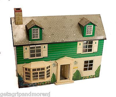 MARX 1960s Two Story Tin Litho Dollhouse Made in USA Antique!