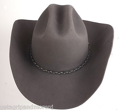 RESISTOL Grey 7 1/4 Western Cowboy Hat George Strait Collection RF04754940 New!