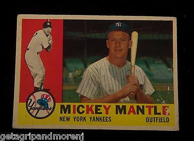 TOPPS MICKEY MANTLE 1960 #350 Yankees Baseball Card In Very Good Condition!