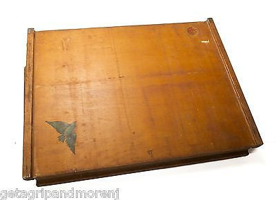 1929 Child's Wooden Learning Desk by Lewis E. Myers Antique!