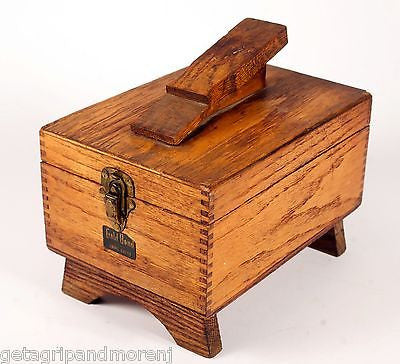 GOLD BOND Shine Chest Wooden Shoe Shiner Kit w/ Accessories!