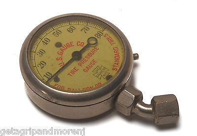 1926 U.S. GAUGE CO. N.Y. Tire Pressure Gauge For Balloon or Standard Tires