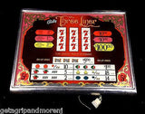 BALLY SLOT MACHINE Three Liner Arcade Game Payout Glass M-645-415 Collectible