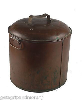 DH&M A. Hout Maker Copper Pot w/ Lid Antique!