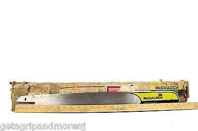 "Mcculloch Chainsaw PRO MAC 24"" Inch BAR NOS Part # 63560 XD Vintage!"