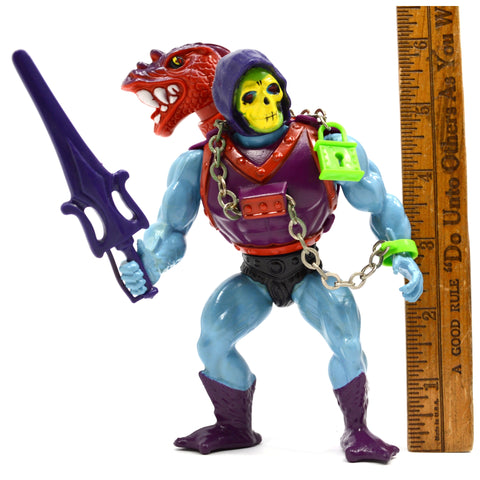 "Vintage MOTU ACTION FIGURE c.1984 ""DRAGON BLASTER SKELETOR"" w/ Sword! EXCELLENT!"