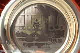 Franklin Mint 1974 Thanksgiving Plate Solid Sterling Silver