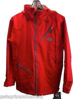 NORTH FACE Men's Cymbiant Recco Fiery Red Cryptic Flash Dry Jacket Size S/P New!