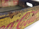 COCA COLA Wooden Yellow Case Tray Box Case Crate 1962 Antique!