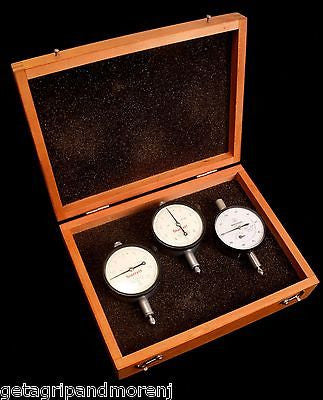 STARRETT MITUTOYO Dial Indicator Set No. 25-111, 25-131, 2804-10 In Box!