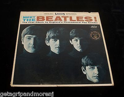 BEATLES Capitol Records Meet the Beatles Record Album Great Condition!