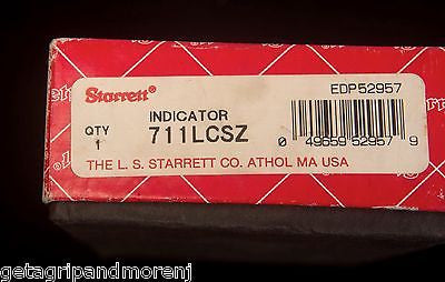 STARRETT 711LCSZ Last Word Dial Test Indicator .0005 w/Case Excellent Condition!