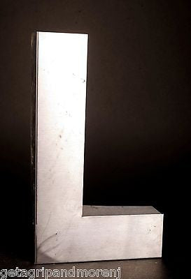 "Stainless Steel 12"" Inch Marquee Letter Sign ""L"" Vintage!"