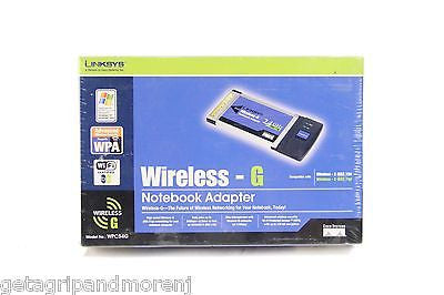 Linksys Wireless-G Notebook Adapter 2.4 GHz New in box unopened