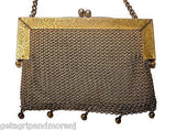 Original GERMAN SILVER Chain Mail Purse by James E Blake 1920s Great Condition!