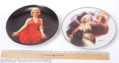 MARILYN MONROE Collectible Plates Lady in Red and Rising Star In Exl Condition!
