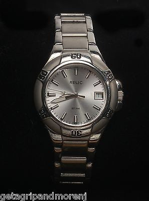 RELIC FOSSIL Men's Stainless Steel Silver Sport Quartz Watch ZR11674
