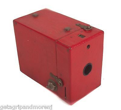 KODAK Rainbow Brownie Model C No. 2 120 Film Eastman Red Box Camera Vintage!