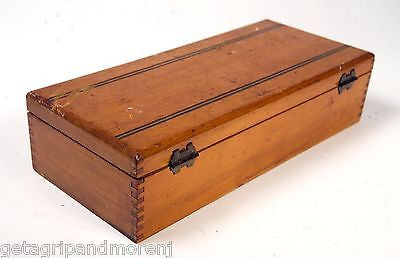 LOVELY WOODEN BOX w/ Finger Joints Trinket Jewelry Letter Storage Box Unique!