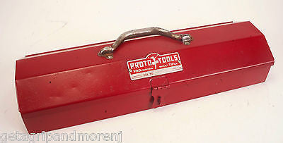 "Proto 1/2"" Inch Drive Socket Set 23 Pieces 5400 Vintage FLYING LADY Tool Box"