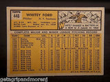 TOPPS WHITEY FORD 1963 #446 HOF Yankees Baseball Card Excellent Mint Condition!