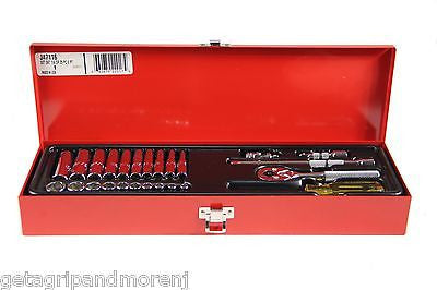 "Proto J47116 25 Piece 6 Point 1/4"" Drive Socket Set"