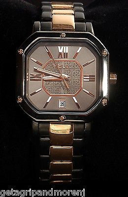RELIC FOSSIL Women's Water Resistant Black Stainless Steel Watch ZR34173 New!
