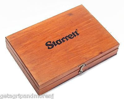 "STARRETT No. 55 4.5"" Precision Engineers Steel Square w/ Wooden Case In Exl Cnd!"