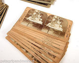 STEREO SLIDES Lot of 86 Late 1800's Variety Antique Collection!