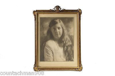 Bachrach Signed Photographic Portrait Photo of Young Girl 1922