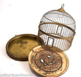 HENDRYX Bird Cage BRASS Metal Beehive Dome House Terarium Antique!