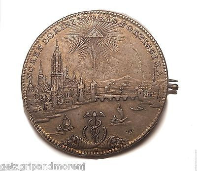 1772 German States Frankfurt Am Main City View Thaler KM#251 SILVER Coin/Pin