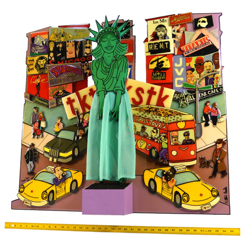 "Original 3D WALL ART ""POPMOTION"" by DEBBIE BROOKS 122/250 Statue of Liberty RARE"