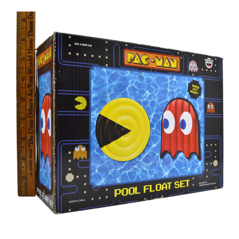 New (Open Box) PAC-MAN POOL FLOAT SET by BIGMOUTH INC. No. BMPF-PM Bandai Namco