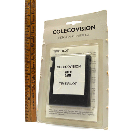 "Factory Sealed! COLECOVISION ""TIME PILOT"" VIDEO GAME CARTRIDGE Unusual GRAY CARD"