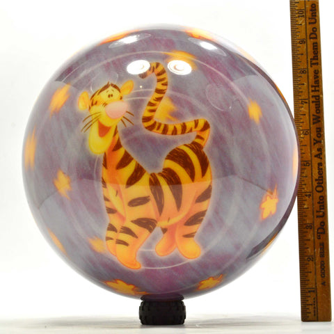 "Undrilled DISNEY ""TIGGER"" PURPLE BOWLING BALL 8 lbs. 11 oz. ""EOU8318"" NEVER USED"