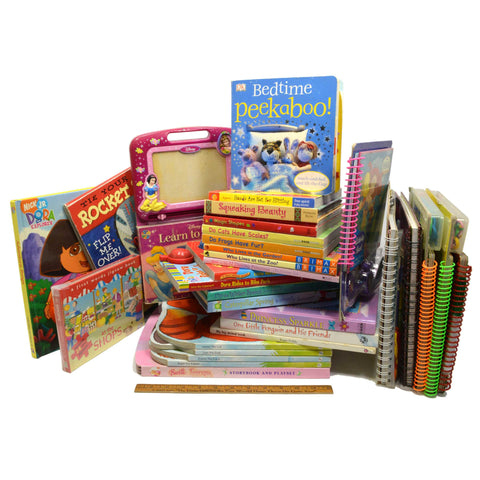 Board & Spiral-Bound CHILDREN'S BOOK Lot of 29 Story/Picture/Activity BIG BOOKS!