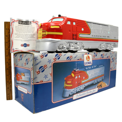 "Never Used LIONEL ""SANTA FE"" Train/Locomotive COOKIE JAR Enesco EXCELLENT IN BOX"