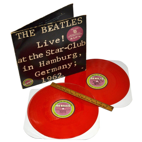 "Vintage THE BEATLES RECORD ""LIVE AT THE STAR-CLUB...GERMANY; 1962"" w/ Red Vinyl!"