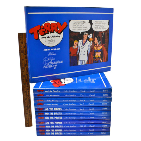 Reprint TERRY AND THE PIRATES Vol. 1-12 HARDCOVER BOOK SET Flying Buttress, 1990