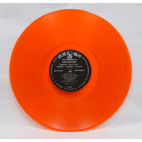 "Vintage THE BEATLES RECORD ""YESTERDAY AND TODAY"" w/ Orange Vinyl! LW-238 Taiwan"