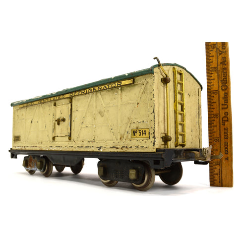 Vintage PRE-WAR LIONEL TRAIN #514 VENTILATED REFRIGERATOR Boxcar STANDARD GAUGE