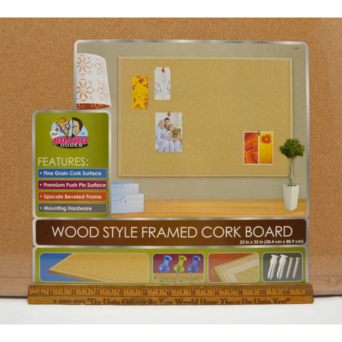"Brand New! 23""x35"" WOOD FRAMED CORK by THE BOARD DUDES Sealed MEGA BRANDS c.2011"