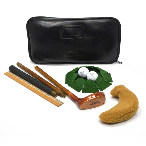 "Briefly Used ""BRONTY EXECUTIVE PUTTER"" Screw-Together Club HOLE/CUP Balls + CASE"