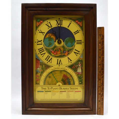 "Vintage ATLEE BURPEE CO ""SEED CLOCK"" Planting Season GREAT GRAPHICS c.1975 Works"