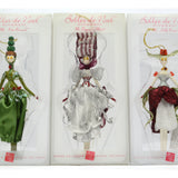 Russ Holiday BELLES DE NOEL Lot of 5 Hand-painted XMAS ORNAMENTS by RUSS BERRIE