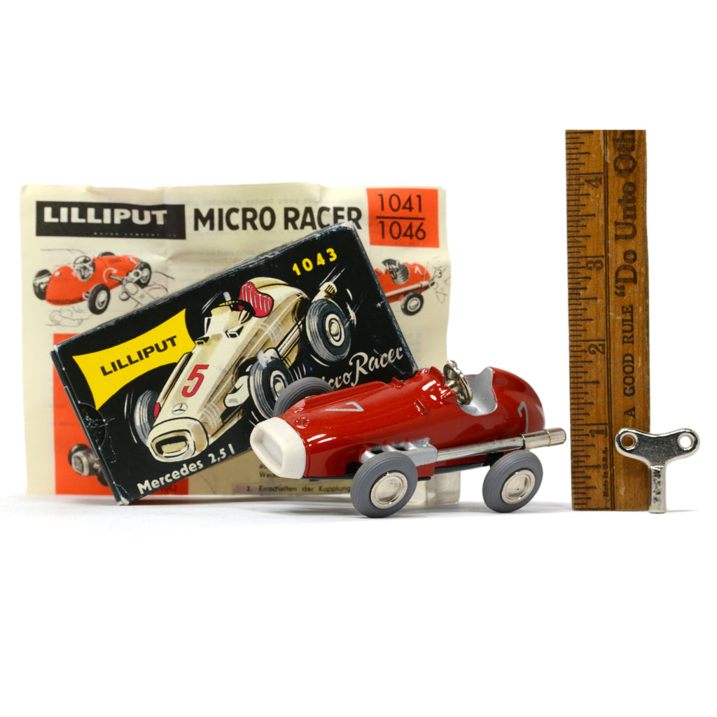 LILLIPUT YELLOW #1043 MERCEDES WIND UP MICRO RACER Replica