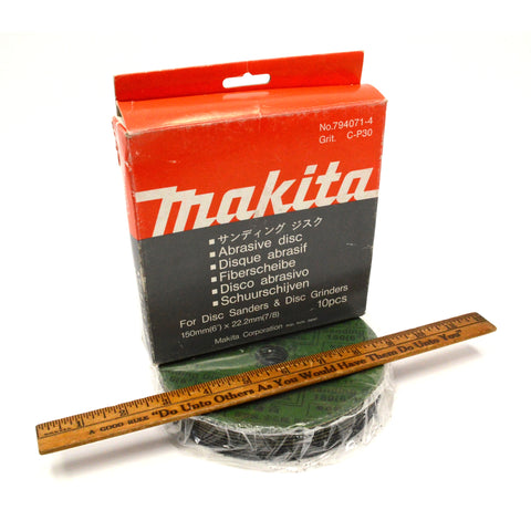 Brand New! MAKITA ABRASIVE DISCS No. 794071-4, C-P30 GRIT for DISC SANDERS/GRINDERS